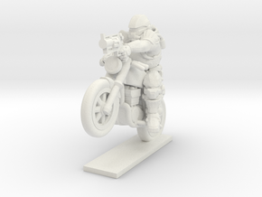 Motorcycle Assault in White Natural Versatile Plastic