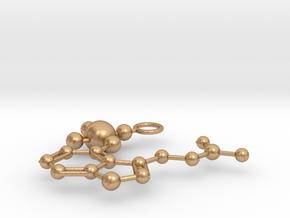 Psilocybin Molecule (large) in Natural Bronze