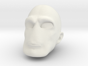 Morph One:12 Head #1 in White Natural Versatile Plastic: 1:12