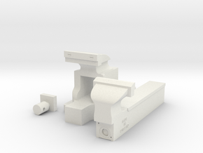 Bench Vice Parts in White Natural Versatile Plastic