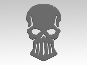 Metal Skull Vehicle Icons in Smooth Fine Detail Plastic