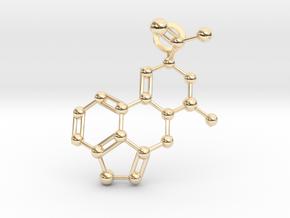 LSA molecule (medium) in 14k Gold Plated Brass