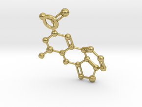 LSA molecule (Large) in Natural Brass