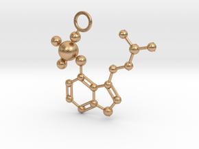 Psilocybin molecule (medium) in Natural Bronze