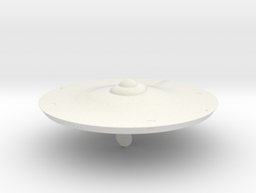 2500 TOS saucer v1 in White Natural Versatile Plastic