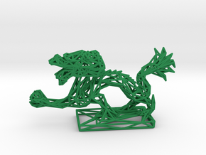 Dragon with Icosahedron in Green Processed Versatile Plastic