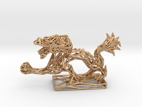Dragon with Icosahedron in Natural Bronze