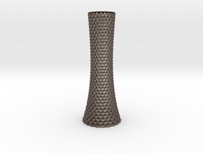 Vase 1004A in Polished Bronzed-Silver Steel