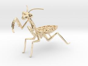 Praying mantis in 14K Yellow Gold