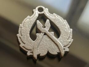 CS:GO Counter-Terrorist Pendant in Polished Nickel Steel