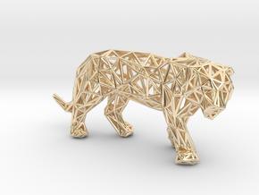 Sumatran Tiger in 14k Gold Plated Brass