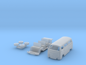 Kombi T2 TT scale in Smooth Fine Detail Plastic