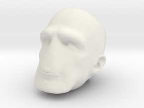 Morph One:12 Head #3 in White Natural Versatile Plastic: 1:12
