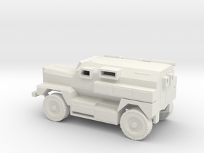 1/100 Scale MRAP Cougar 4x4 in White Natural Versatile Plastic
