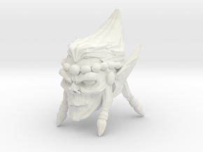 Interplanar villian head 1 in White Natural Versatile Plastic