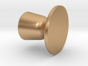 Door knob in 1:6 scale in Natural Bronze