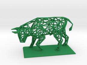 Bull in Green Processed Versatile Plastic