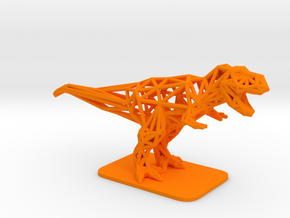 T-Rex Tyrannosaurus in Orange Processed Versatile Plastic