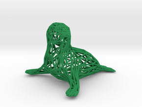 Baby seal in Green Processed Versatile Plastic