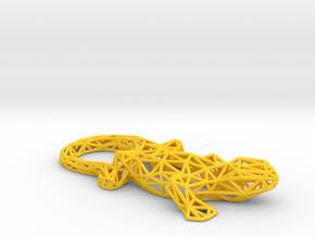 Lizard in Yellow Processed Versatile Plastic