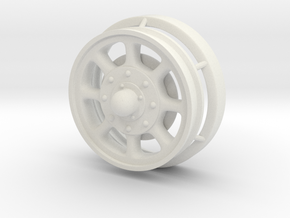 1/24 scale Giraffe Rear Wheel in White Natural Versatile Plastic