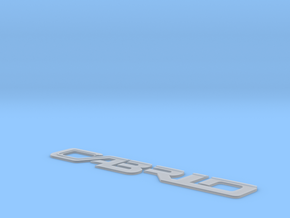 138002-01 Fiat Ritmo Cabrio Emblem in Smooth Fine Detail Plastic