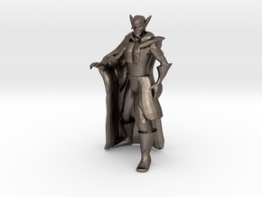 Vampire Miniature (28mm Scale) in Polished Bronzed-Silver Steel