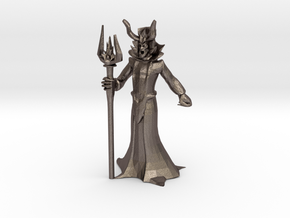 Lich Miniature (28mm Scale) in Polished Bronzed-Silver Steel