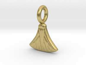 Small Waterlily charm in Natural Brass