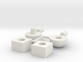 "Customizable ""Revoltech"" Joints in White Natural Versatile Plastic: Extra Small"