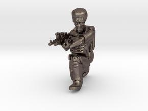 Alien Trooper (28mm Scale Miniature) in Polished Bronzed-Silver Steel