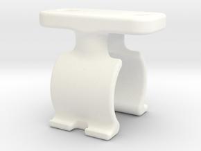 Shimano PRO Saddle / Tracer Mount in White Processed Versatile Plastic