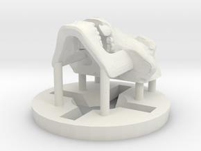 Predator Hominid Skull Pendant in White Natural Versatile Plastic