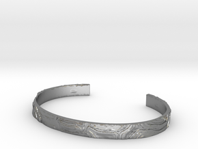 Topography Bracelet in Natural Silver