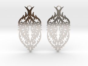 Thorn earrings in Rhodium Plated Brass: Small