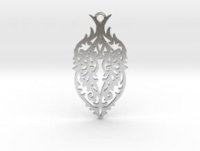 Thorn pendant in Natural Silver: Large