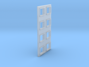 Arch Top Window Sprue HO scale in Smooth Fine Detail Plastic