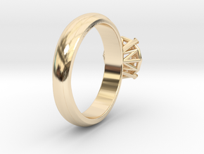 Frame diamond Ring in 14k Gold Plated Brass: 6 / 51.5