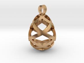 Egg openwork [pendant] in Polished Bronze