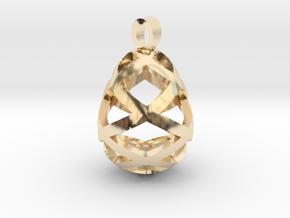 Egg openwork [pendant] in 14k Gold Plated Brass