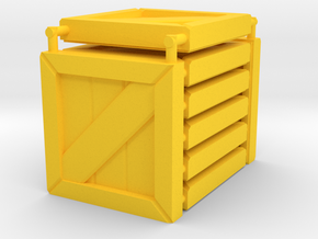 3 x 3 Wood Box Set in Yellow Processed Versatile Plastic