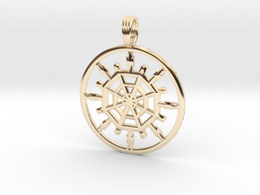 QUARTER SPACE in 14k Gold Plated Brass