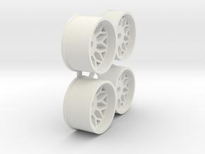 Offset-1,0-BBS-Rims-MiniZ-AWD in White Natural Versatile Plastic