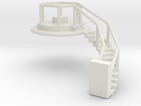 Spherical Ladder - part 3 Chemical Tank N 160:1 Sc in White Natural Versatile Plastic