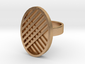 One Stripe Ring in Natural Bronze: 4 / 46.5