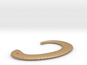 Drape Earcuff in Polished Bronze