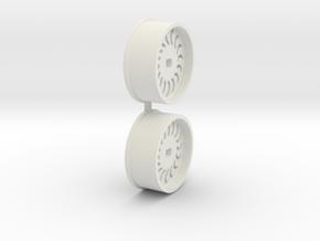 Offset-0,0-front-Sickl-Rims-MiniZ-AWD in White Natural Versatile Plastic
