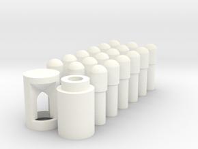18 Grenzzeichen Spur 2 in White Processed Versatile Plastic