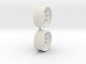 Offset-3,0-front-Polygon-Rims-MiniZ-AWD in White Natural Versatile Plastic