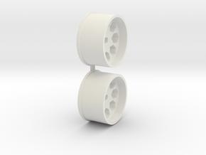 Offset-0,0-rear-Polygon-Rims-MiniZ-AWD in White Natural Versatile Plastic